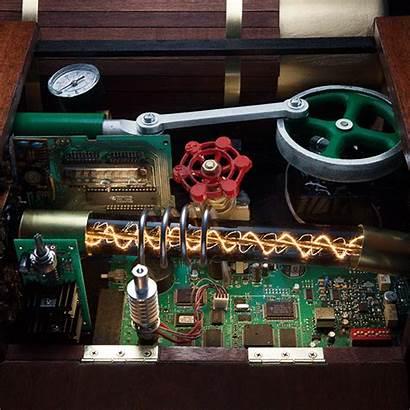 Steam Powered Gaming Cabinet Pc Machine Steampunk