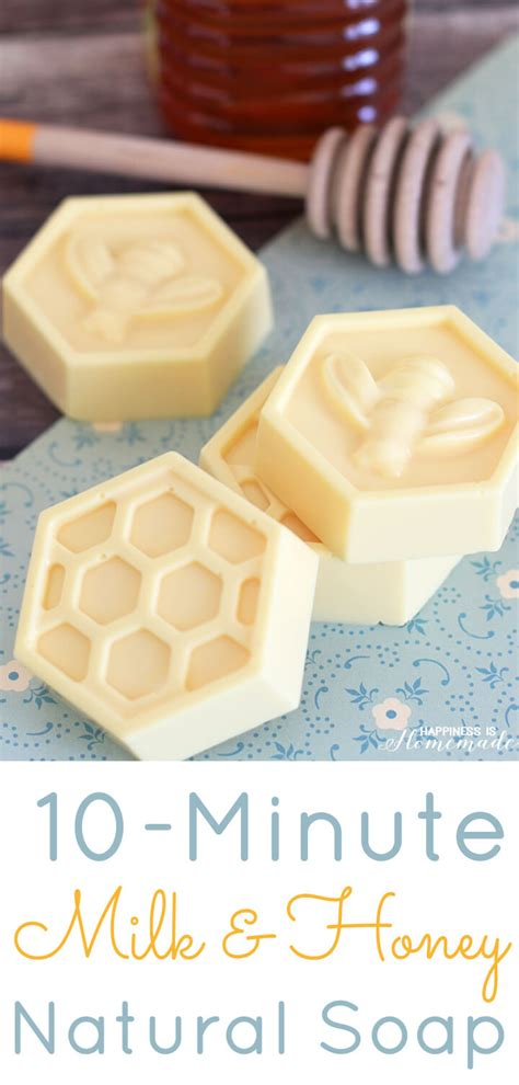 minute diy milk honey soap happiness  homemade
