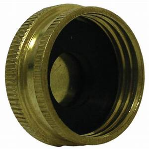 Everbilt lead free brass garden hose cap 3 4 in fh 801719 for Garden hose cap