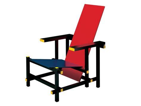 la chaise et bleu de gerrit rietveld salle aubette