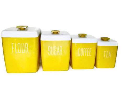 yellow canister sets kitchen vintage yellow canister set kitchen canister set