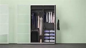 Ikea Offener Schrank : verschiedene komplement l sungen in einem ikea pax kleiderschrank youtube ~ Watch28wear.com Haus und Dekorationen