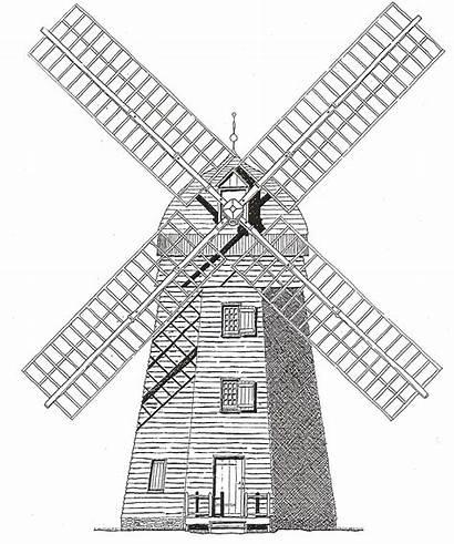 Windmill Dutch Drawing Project Getdrawings