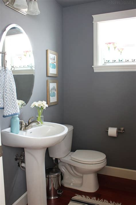 updated bathroom ideas townhouse powder room update and city print giveaway