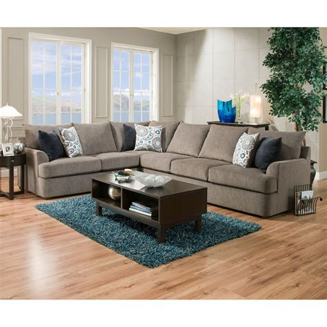 Simmons Upholstery 8540br 8540brsectionalsofa Casual