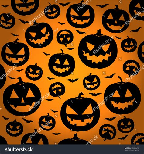 Jack O Lantern Silhouette Background Halloween Stock