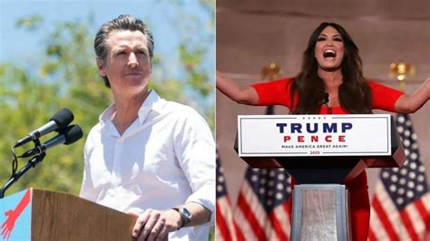 guilfoyle kimberly speech newsom rnc wife ex question republican convention gavin night reacts wrong timeline