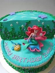 Little Mermaid Birthday Cake Walmart