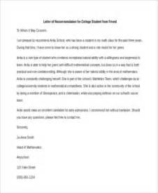 re mendation letter for a friend