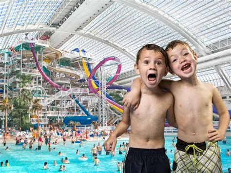 indoor water parks  canada   family