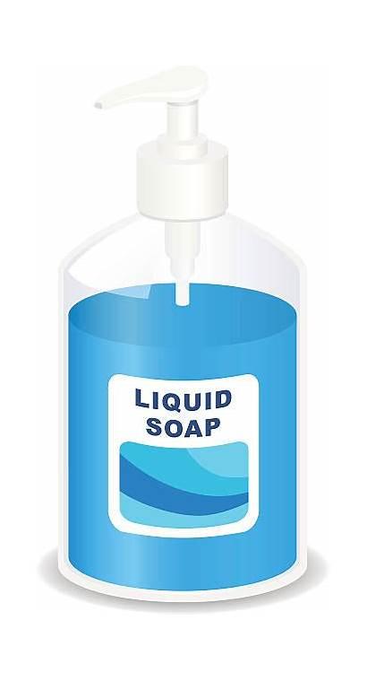 Soap Liquid Clipart Pump Clip Dispenser Vector
