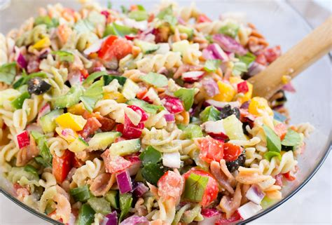 healthy pasta healthy rainbow pasta salad