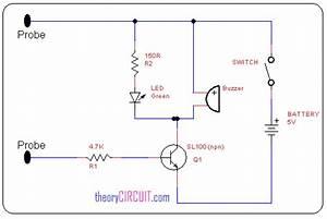 Simple Continuity Tester Circuit Diagram