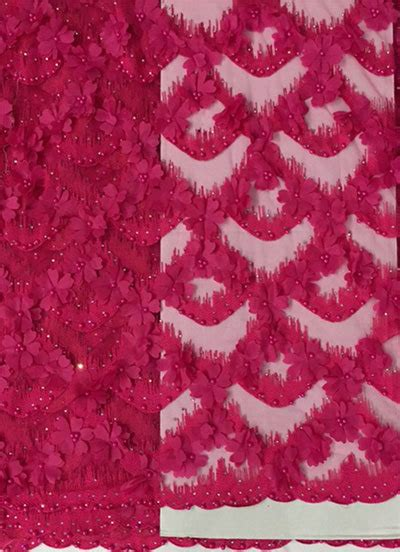 french lace  hot pink aaron international