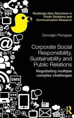 Corporate Social Responsibility, Sustainability And Public