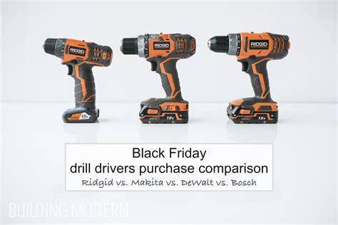 Home Depot Black Friday Drill Comparison