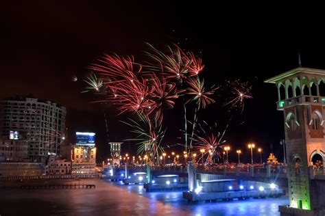 fireworks   night sky  alexandria egypt image