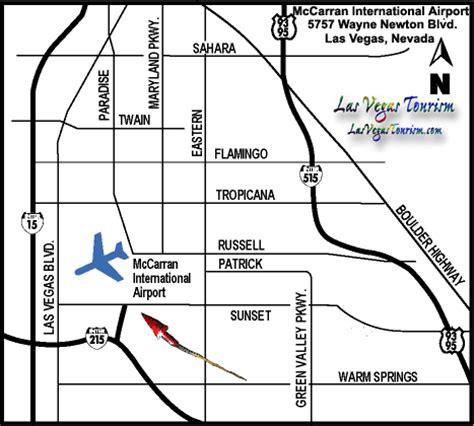 las vegas airport map