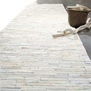 tapis arty blanc 80x300 maisons du monde