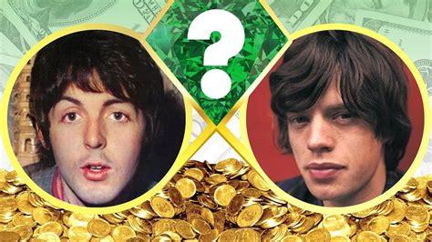 whos richer paul mccartney  mick jagger net worth