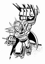 Coloring Shredder Pages Ninja Coloringtop sketch template