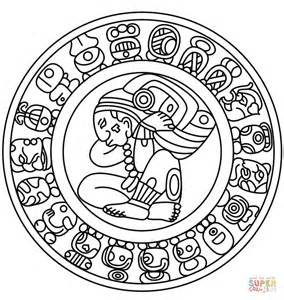 Mayan Calendar coloring page   Free Printable Coloring Pages