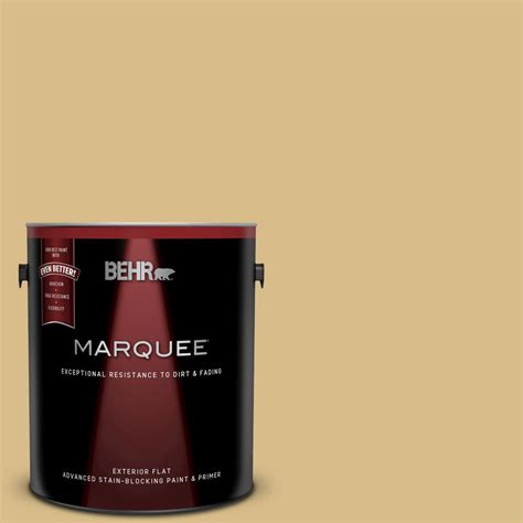 behr marquee 1 gal mq2 18 honey tea flat exterior paint
