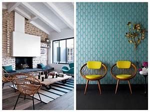 deco bleu canard idees et inspiration clem around the With idee deco cuisine avec fauteuil en bois