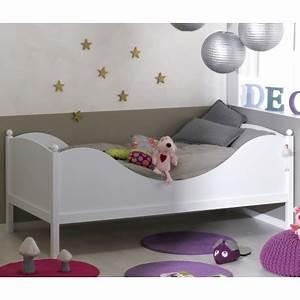 Lit enfant blanc 90x190 arthblcm01 for Deco chambre enfant avec achat matelas latex 90x190
