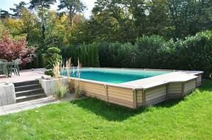 Piscines Semi Enterrées : piscine bois rectangulaire semi enterr e ~ Zukunftsfamilie.com Idées de Décoration