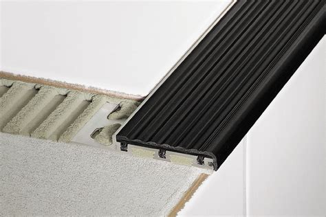 Tile Stair Nosing Profile by Schluter 174 Trep Se S B Slip Resistant Treads For Stairs
