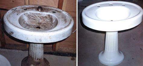 fix in porcelain sink bathtub refinishing todds porcelain fiberglass repair