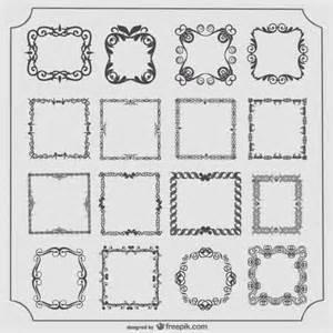 vintage frames vector set vector free