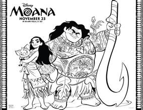 Moana Disney Coloring Pages Printable