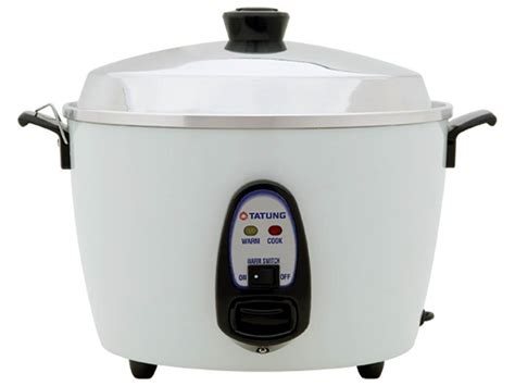 tatung 10 cup rice cooker with stainless steel inner pot steam tray best food steamer brands