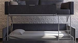 coupe sofa turns into a comfy bunk bed in just 14 seconds With proteas sofa bunk bed