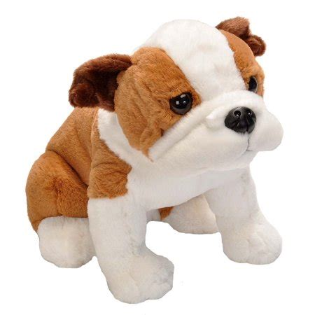 english bulldog cuddlekins sitting dog   stuffed
