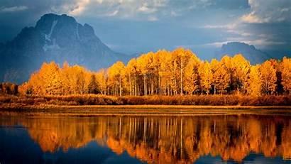 Autumn Trees Lake Mountains Wallpapers 1920 1080