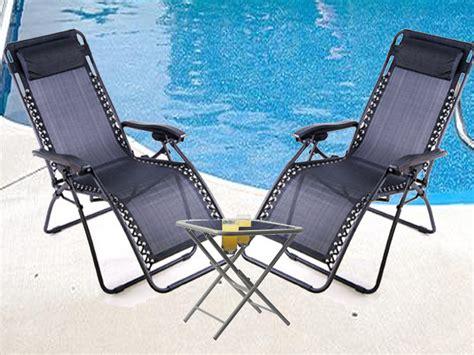 new zero gravity textoline chair w table set garden