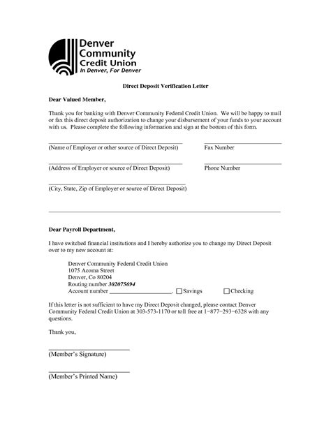 bank letter for direct deposit best photos of checking account verification letter bank