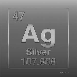 Periodic Table Of Elements - Silver - Ag - Silver On ...
