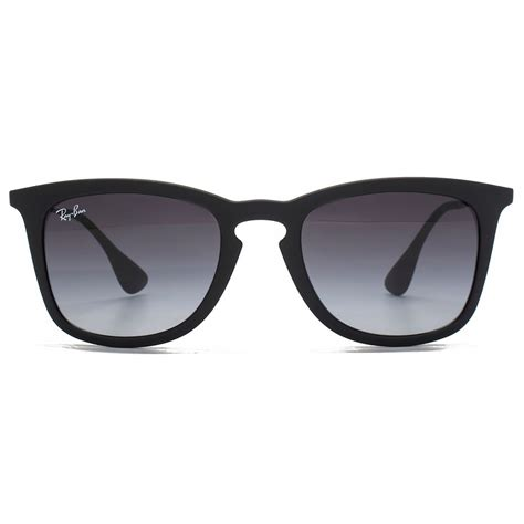 Rayban Keyhole Wayfarer Sunglasses In Black Rubber