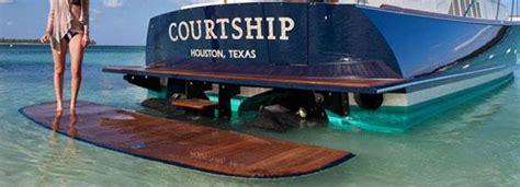 Boat Rear Swim Platform by Sealift S Swim Platform Extends The Back Of A Large Boat