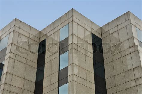 modern building marble  glass facade corners abstract