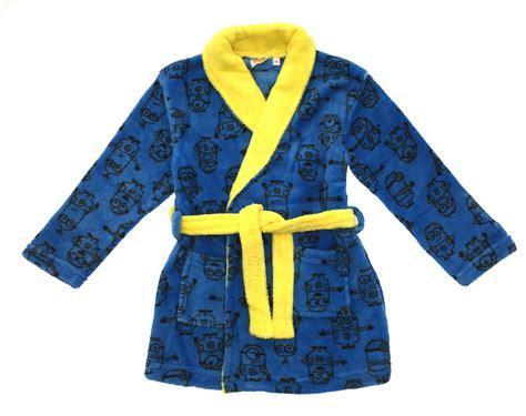 boys girls despicable me minions fleece bath robe kids
