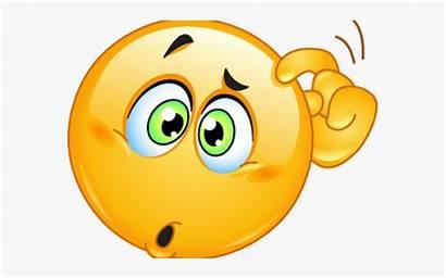 Emoji Thinking Clipart Emoticon Smiley Confused Sad