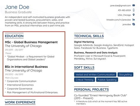 Cv / resume for a student, for a person without experience. Job Resume For Fresh Graduate Without Experience