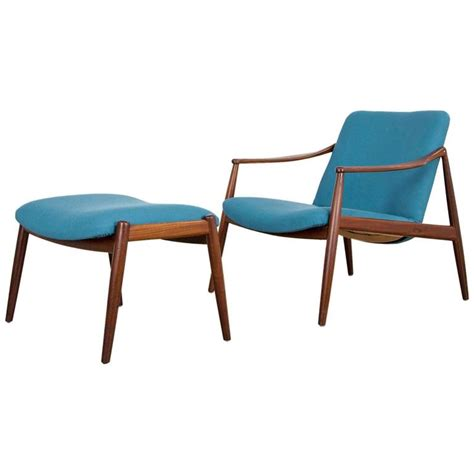 easy chairs with ottomans hartmut lohmeyer teak easy chair with ottoman by wilkhahn