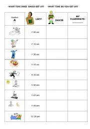 daily routines speaking esl worksheet  selene