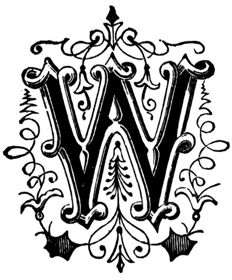 ornamental letter clipart